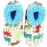 Pattern Moose Fuzzy Feet - Papcie - LazyOne