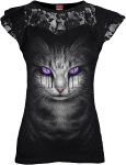 Cat's Tears - Lace Sleeve Top - Spiral - Damska
