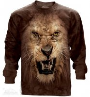 Big Face Roaring Lion - Long Sleeve The Mountain