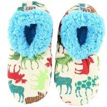 Pattern Moose Fuzzy Feet - Papučky - LazyOne
