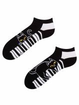 Kočka a Klavír - Krátké Ponožky Good Mood