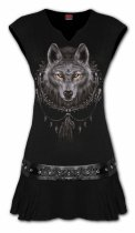 Wolf Dreams - Mini Šaty Spiral