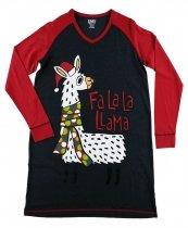 FaLaLa Llama - Noční košilka s dlouhým rukávem - LazyOne