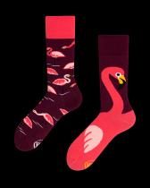 Pink Flamingo - Ponožky - Many Mornings