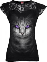 Cat's Tears - Lace Sleeve Top - Spiral