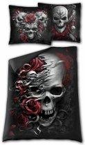 Skulls and Roses Single (200x135) - Pościel Spiral