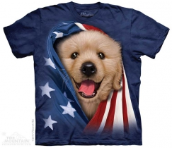 Patriotic Golden Pup - The Mountain