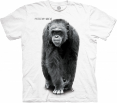 Chimp Protect My Habitat White - The Mountain