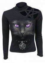 Black Cat - Shoulder Longsleeve Spiral
