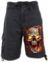 Skull Blast - Krótkie Spodnie Denim Spiral