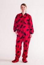 Moose Red Footie - Piżama Śpiochy - LazyOne