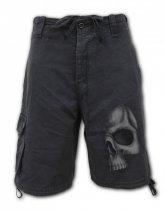 Shadow Skull - Krótkie Spodnie Denim Spiral