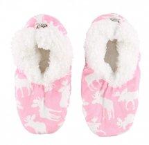 Moose Pink Fuzzy Feet - Papcie - LazyOne