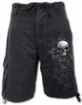 Skull Scroll - Krótkie Spodnie Denim Spiral
