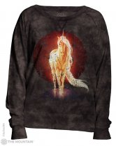 Retro Unicorn - Bluza Damska - The Mountain