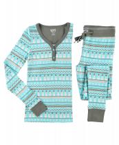 Nordic Snowman - Damska Piżama Termiczna - LazyOne