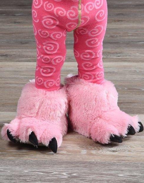 Pink Bear Paw Slippers - Bačkory LazyOne