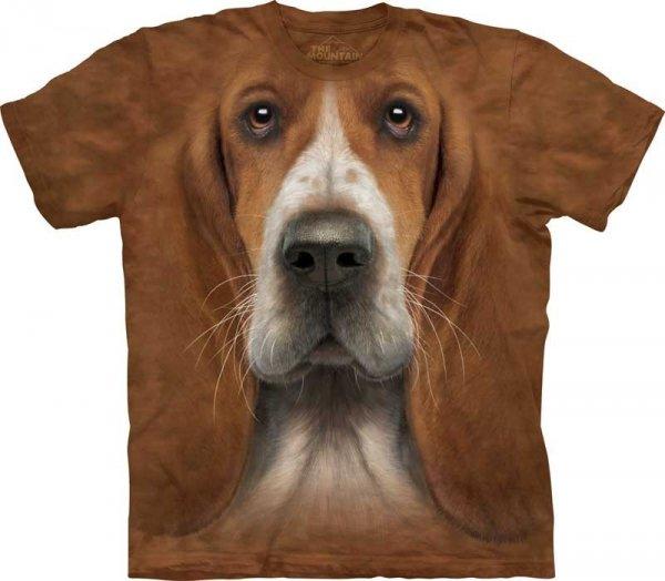 Basset Hound Head - T-shirt The Mountain