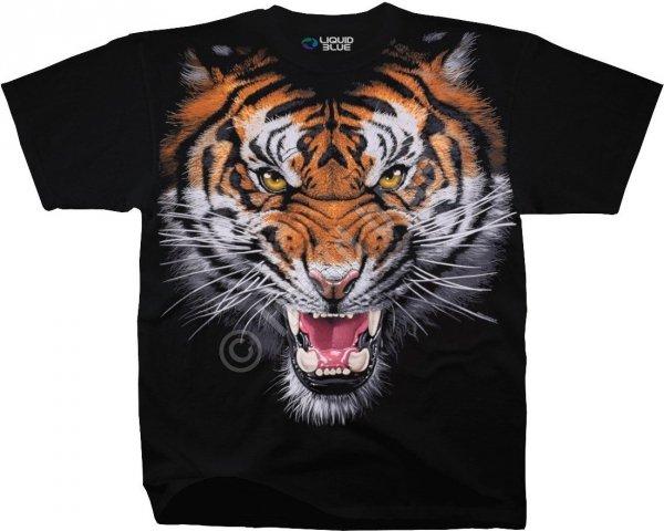 Tiger Face - Liquid Blue