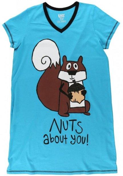 Nuts About You! Nightshirt - Noční košilka - LazyOne