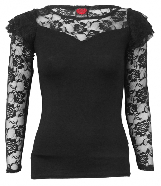 Gothic Elegance - Lace Long Sleeve Spiral
