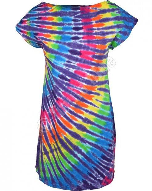 Rainbow Purple Streak - Šaty Liquid Blue
