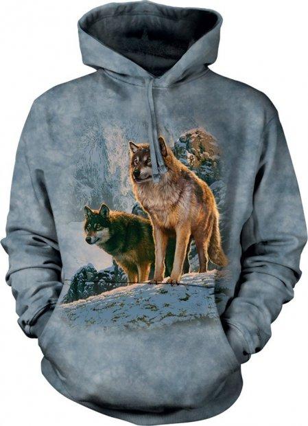 Wolf Couple Sunset - Mikina The Mountain