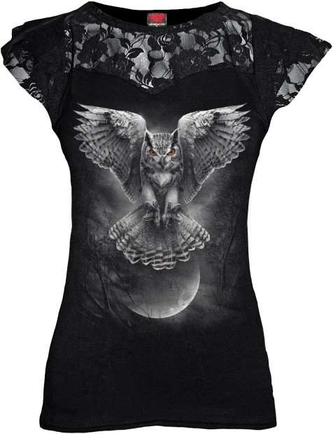 Wings Of Wisdom - Lace Sleeve Top - Spiral