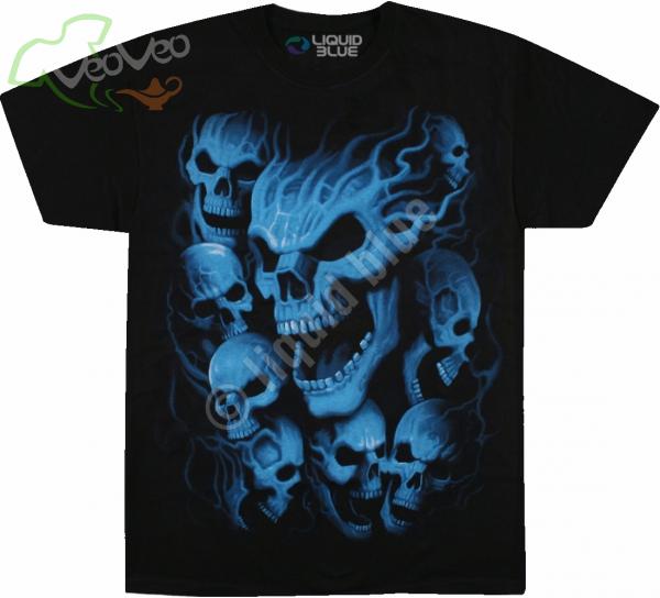 Vampire Skulls - Liquid Blue