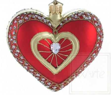 Herz mit Brillant - 9,5cm