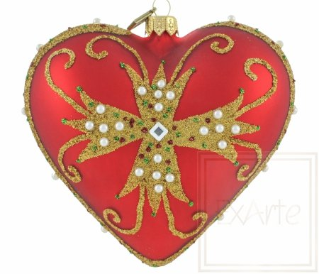 Herz 12cm - Inkrustiert
