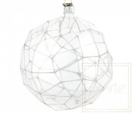 Wielościan 12,5cm- Srebrzysta sieć