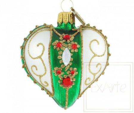 Serce 5cm - Kolia na zieleni