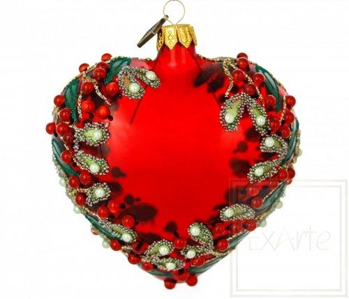 Herz 9 cm - Weihnachtlich