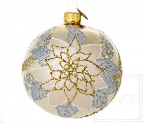 Kugel 10 cm -  Goldener Weihnachtsstern