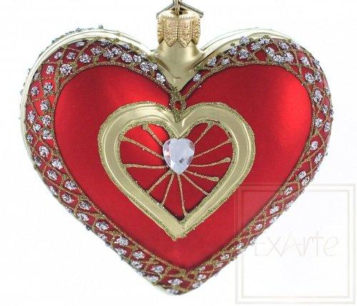 Serce z brylantem - 9,5cm