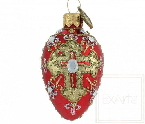 Jajko 7cm - Diamenty na czerwieni