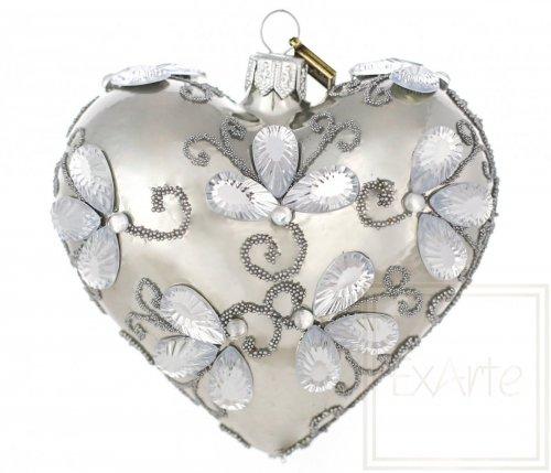 Serce  9,5cm - Kryształowe