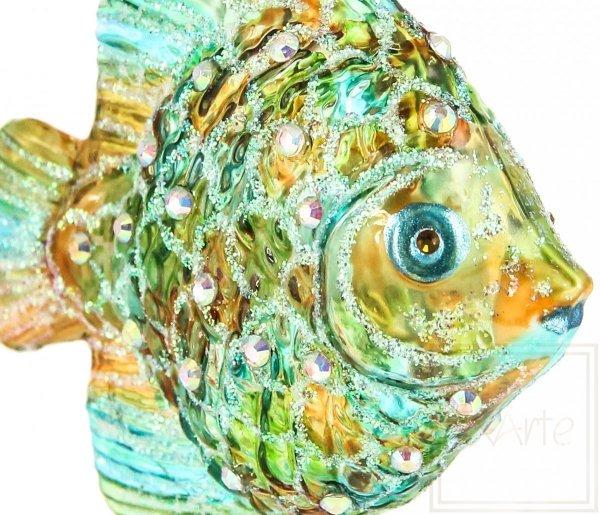 Szklana bombka rybka, Fisch 9cm - Licht
