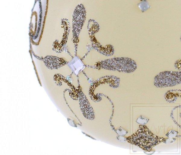 Kugel 10cm – Heraldische Lilie