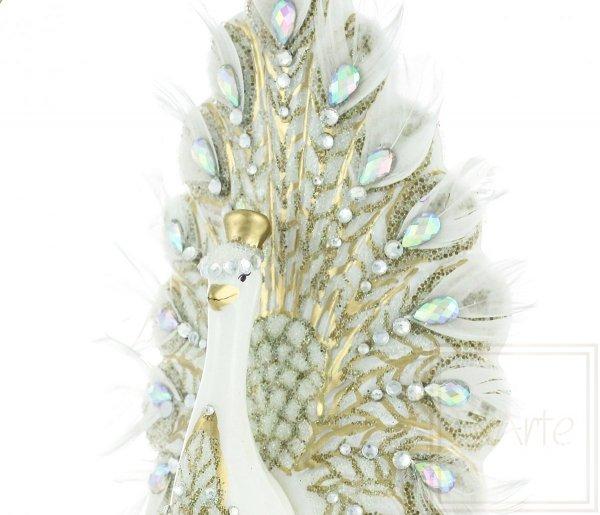 Exarte  Weihnachtsdekoration Pfau der Königin 18cm