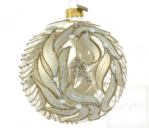 handverzierte Weihnachtskugeln, ręcznie robiona bombka kula, Hand-decorated Christmas bauble