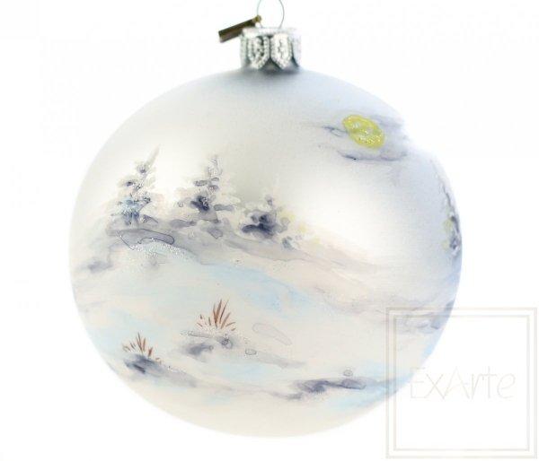 szklana bombka anioł malowany ręcznie