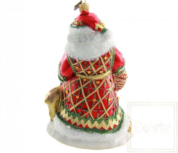 Weihnachtsmann 18cm - Mit Rehen