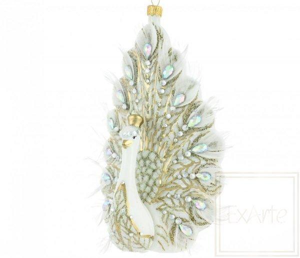 Weihnachtsdekoration Pfau der Königin 18cm