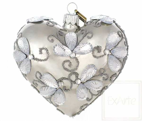 Herz 9,5 cm - Kristall