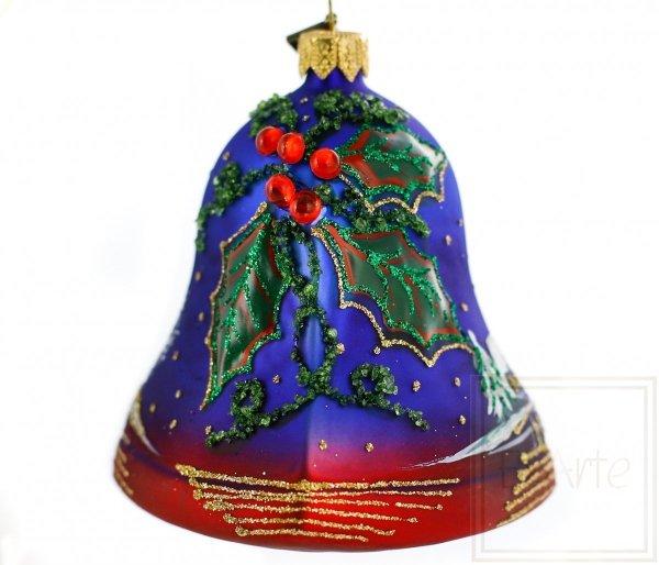 granatowy dzwonek bombka choinkowa