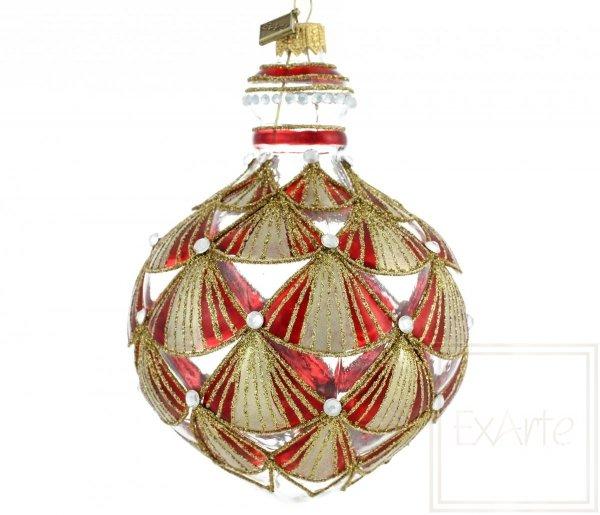 czerwono-złota bombka / Granatapfelfrucht 13cm - Tanzmotten