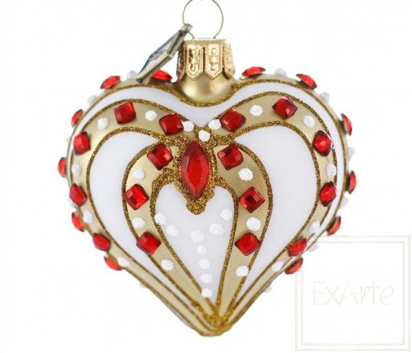Herz 5 cm - Mit Rubinen