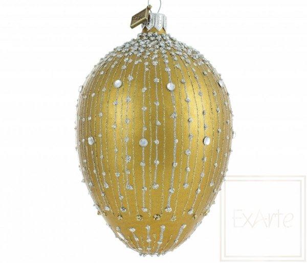 Weihnachtskugel Gold, złota bombka choinkowa, Golden Christmas bauble